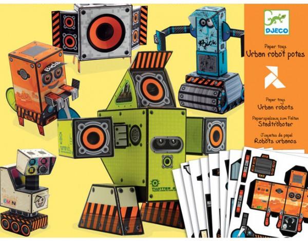 Робот из бумаги своими руками для детей 1028